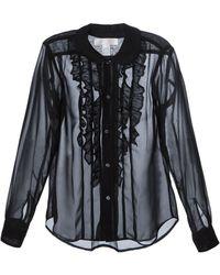 Comme Des Garçons Ruffle Detail Shirt - Lyst