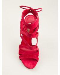 Casadei Wraparound Sandals - Lyst