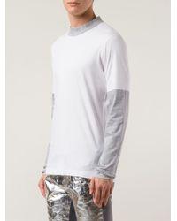Viktor & Rolf - Contrast-Sleeved T-Shirt - Lyst
