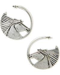 Nasty Gal Pegasus Earrings - Lyst