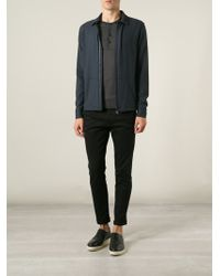 Giorgio Armani Zipped Shirt Jacket - Lyst