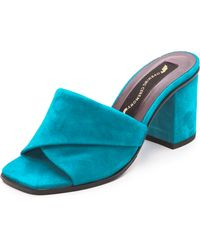 Opening Ceremony Curtain Mid Sandals Aqua - Lyst