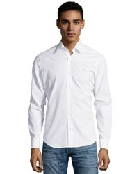 Burberry Brit White Stretch Cotton Button Front Shirt - Lyst