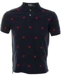 Ralph Lauren Custom Fit Lobster Polo T Shirt - Lyst