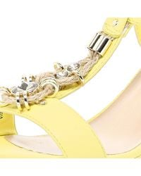 River Island Lime Embellished Espadrille Wedge Sandals - Lyst