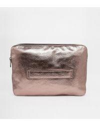 Asos Metallic Grab Clutch Bag - Lyst