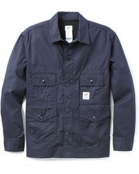 Garbstore Fine Twill Flight Shirt blue - Lyst