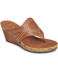 Aerosoles Take Flight Thong Wedge Sandals - Lyst