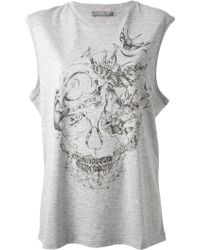 Alexander McQueen Sleeveless Tshirt - Lyst