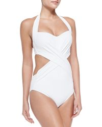 Jets by Jessika Allen Cross-front Cutout One-piece Swimsuit - Lyst