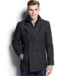 American Rag - Wool-Blend Bib Pea Coat - Lyst