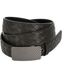 Bottega Veneta 30mm Woven Oiled Leather Belt - Lyst