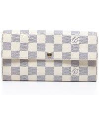 Louis Vuitton Pre-owned Damier Azur Sarah Wallet - Lyst