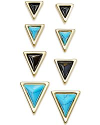 House of Harlow 1960 - Gold-tone Triangle Stud Earring Set - Lyst