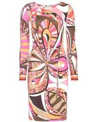 Emilio Pucci Multicolor Printed Dress - Lyst