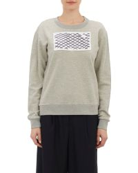 MM6 by Maison Martin Margiela Chain-Link Patch Sweatshirt - Lyst