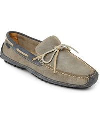 Cole Haan Grey Grant Driver Suede Moccasins gray - Lyst