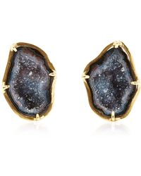 Kimberly Mcdonald - One Of A Kind Dark Geode Clip On Earrings - Lyst