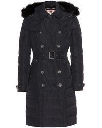 Burberry Brit Allerdale Down Coat with Fur Trim - Lyst