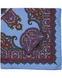 Turnbull & Asser - Paisley-Print Silk Pocket Square - Lyst