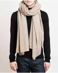 Danielapi - Long Knitted Cashmere Scarf - Lyst