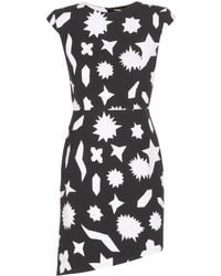 Saint Laurent Printed Crepe Dress - Lyst