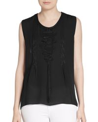 Elie Tahari Chase Silk Blouse - Lyst