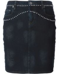 IRO Studded Denim Skirt - Lyst