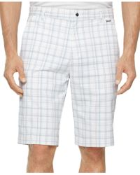 Calvin Klein Madras Plaid Stretch Shorts white - Lyst