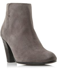 Dune Black | Pharah Back Zip Heeled Ankle Boots | Lyst