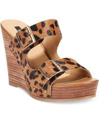 Kensie - Reid Platform Wedge Sandals - Lyst