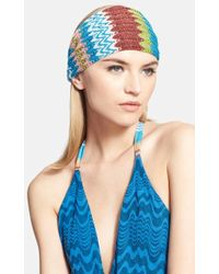 Missoni Mare Metallic Zigzag Knit Headband - Lyst