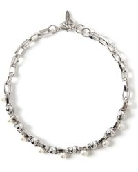Joomi Lim | Double Row Chain Pearl Choker Necklace | Lyst