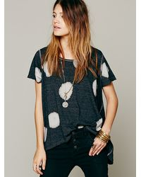 Free People We The Free Dot Wash Tee - Lyst