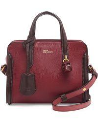 Alexander McQueen Mini Padlock Zip-around Satchel Bag - Lyst