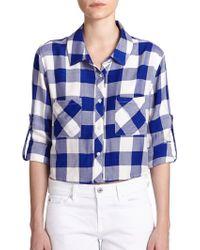 Rails Rian Cropped Plaid Shirt - Lyst