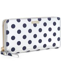 Kate Spade Lacey Zip Around Wallet - Lyst