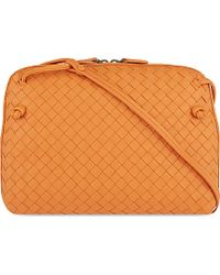 Bottega Veneta Ciel Intrecciato Small Cross-Body Bag - For Women orange - Lyst