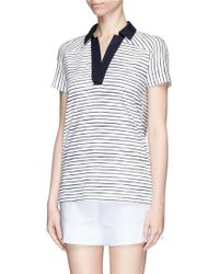 Tory Burch 'Dixie' Stripe Cotton Polo Tunic - Lyst