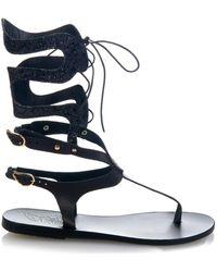 Ancient Greek Sandals - Kori Mid Gladiator Lace-Up Sandals - Lyst