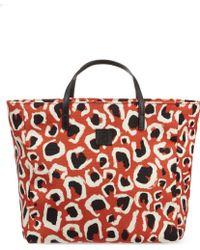 Gucci Leopard Print Canvas Tote - Lyst