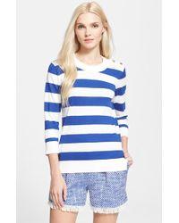 Kate Spade Stripe Sweater - Lyst