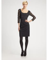 Josie Natori Dahila Lace Dress - Lyst