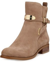 Michael by Michael Kors Arley Suede Ankle Boot - Lyst
