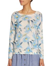 Joie Eloisa Floral-Print Sweater floral - Lyst