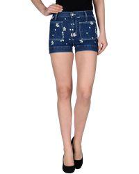 See By Chloé Denim Shorts blue - Lyst