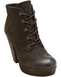 Steve Madden Raspy Leather Booties - Lyst