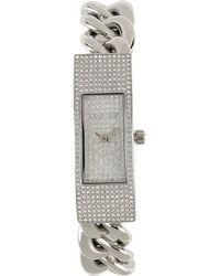 Michael Kors Silver Wrist Watch - Lyst