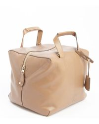 Loewe Light Brown Leather Convertible Bowler Bag - Lyst