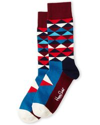 Happy Socks Multicolor Triangle Socks - Lyst